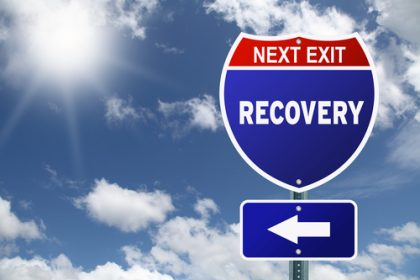 next exit recovery road sign