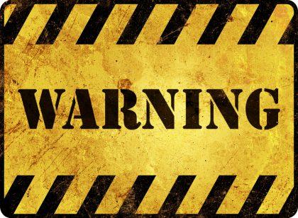 warning tire treads