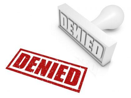 stamp says denied