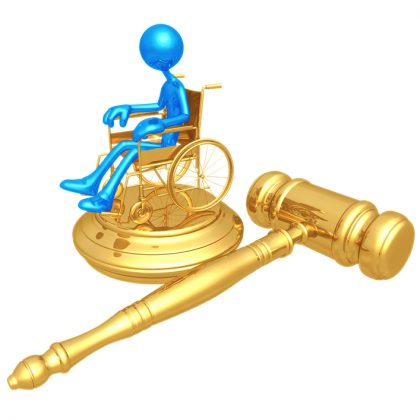 wheelchair gold gavel